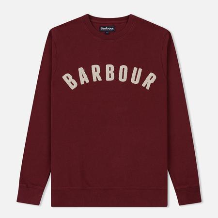 Мужская толстовка Barbour Prep Logo Crew Ruby