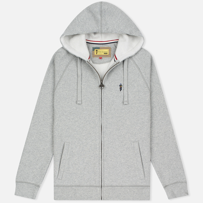 Мужская толстовка Barbour x Steve McQueen Hoody Full Zip Grey Marl