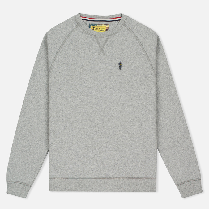 Мужская толстовка Barbour x Steve McQueen International Crew Neck Grey Marl