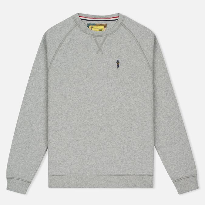 Barbour x Steve McQueen International Crew Neck Men`s Sweatshirt Grey Marl