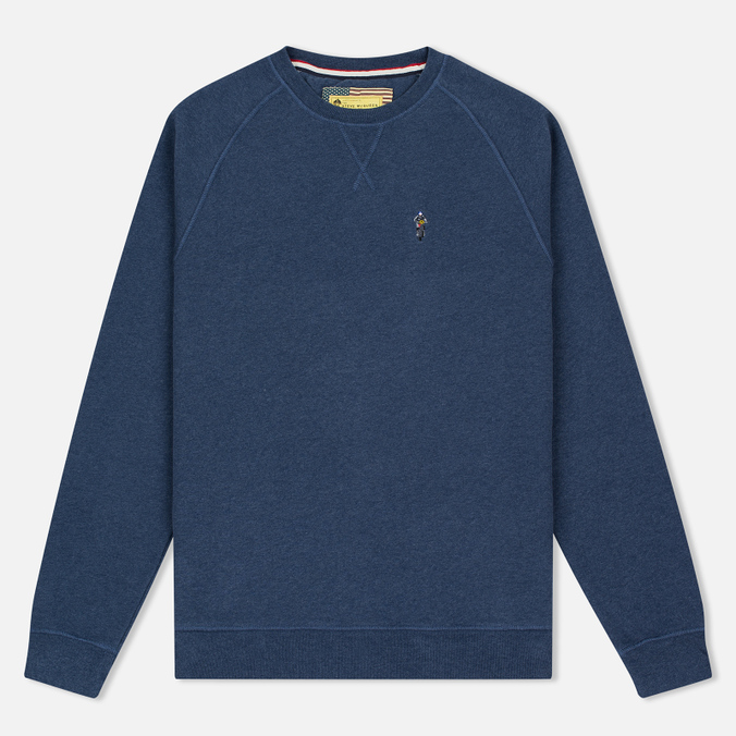 Barbour x Steve McQueen International Crew Neck Men`s Sweatshirt Indigo Marl