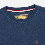 Barbour x Steve McQueen International Crew Neck Men`s Sweatshirt Indigo Marl photo- 1