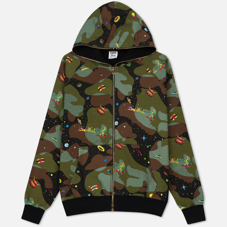Мужская толстовка Billionaire Boys Club All Over Space Camo Zip-Through Hood Black