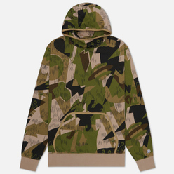 Мужская толстовка Billionaire Boys Club Camo All Over Print Popover Hood Khaki Print