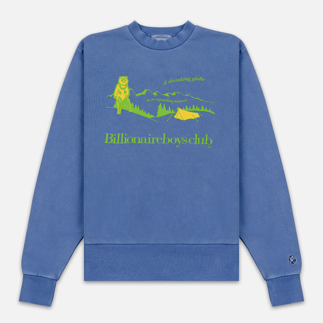 Мужская толстовка Billionaire Boys Club Campsite Pigment Dyed Crewneck Purple