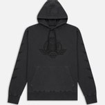 Мужская толстовка Billionaire Boys Club Commander Overdyed Hoody Overdye Charcoal фото- 0