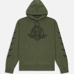 Мужская толстовка Billionaire Boys Club Commander Overdyed Hoody Overdye Olive фото- 0