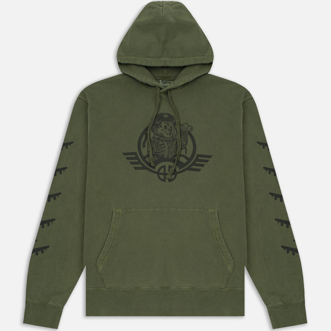 Мужская толстовка Billionaire Boys Club Commander Overdyed Hoody Overdye Olive