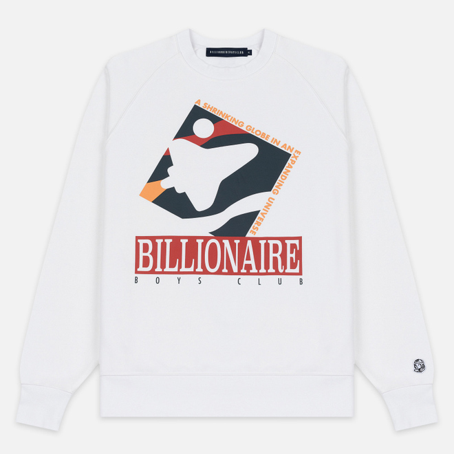 Мужская толстовка Billionaire Boys Club Commemorative Mission Crewneck White