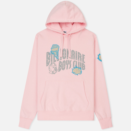 Мужская толстовка Billionaire Boys Club Damaged Logo Popover Hood Pink