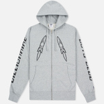 Мужская толстовка Billionaire Boys Club Digital Zip-Through Hoody Grey/Black фото- 0