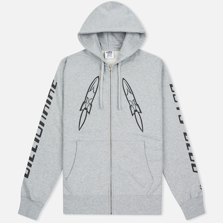 Мужская толстовка Billionaire Boys Club Digital Zip-Through Hoody Grey/Black