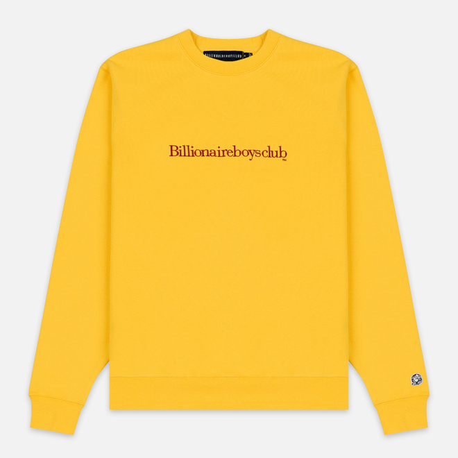 Мужская толстовка Billionaire Boys Club Embroidered Logo Crewneck Yellow