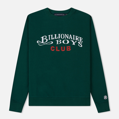 Мужская толстовка Billionaire Boys Club Embroidered Script Crewneck Green