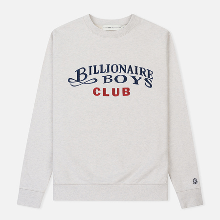 Мужская толстовка Billionaire Boys Club Embroidered Script Crewneck White Marl