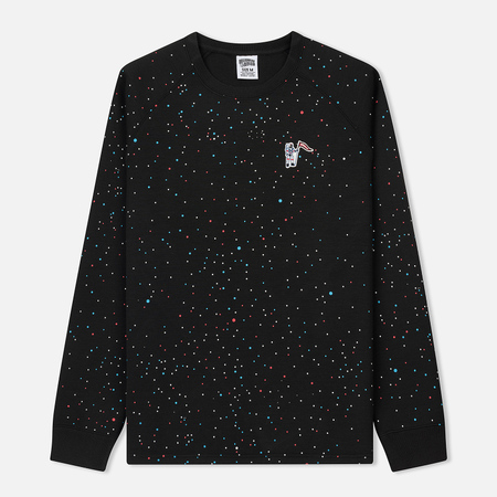 Мужская толстовка Billionaire Boys Club Galaxy Print Technical Jersey Crew Neck Black