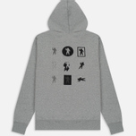 Мужская толстовка Billionaire Boys Club Incorrect Uses Pop Over Hoody Heather Grey фото- 5