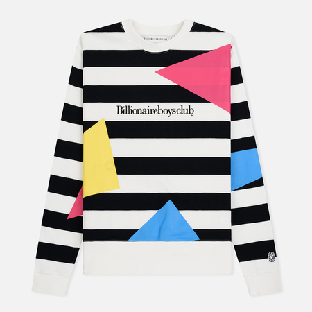 Мужская толстовка Billionaire Boys Club Jumble Crewneck Striped Black/White