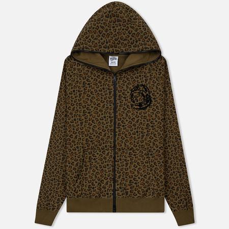 Мужская толстовка Billionaire Boys Club Leopard Print Full Zip Hoodie Brown