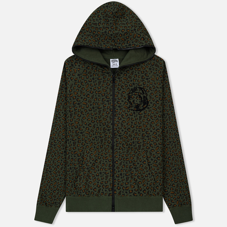 Мужская толстовка Billionaire Boys Club Leopard Print Full Zip Hoodie Green