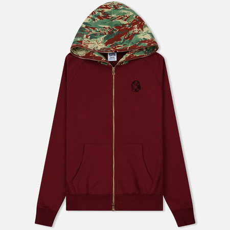 Мужская толстовка Billionaire Boys Club Lizard Camo Zip Hoodie Burgundy