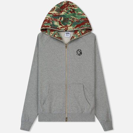Мужская толстовка Billionaire Boys Club Lizard Camo Zip Hoodie Heather Grey