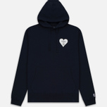 Мужская толстовка Billionaire Boys Club Nose Art Pop Over Hoody Navy фото- 0