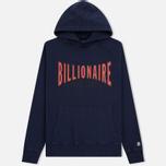 Мужская толстовка Billionaire Boys Club Racing Logo Popover Hoodie Blue фото- 0
