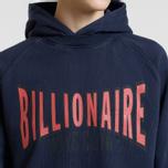Мужская толстовка Billionaire Boys Club Racing Logo Popover Hoodie Blue фото- 3