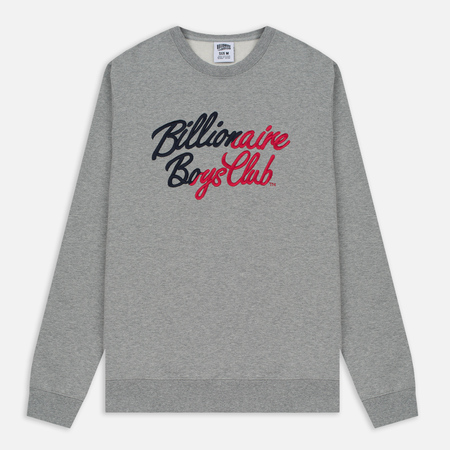 Мужская толстовка Billionaire Boys Club Script Embroidered Crew Neck Heather Grey
