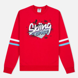 Мужская толстовка Billionaire Boys Club Skiing In Space Crew Neck Red фото- 0