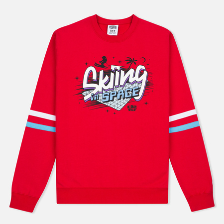Мужская толстовка Billionaire Boys Club Skiing In Space Crew Neck Red