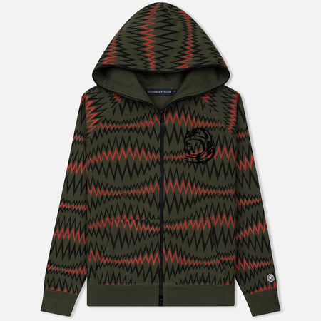 Мужская толстовка Billionaire Boys Club Soundwave Full Zip Hoodie Olive