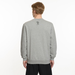 Мужская толстовка Billionaire Boys Club Straight Logo Reversible Crewneck Heather Grey фото- 6