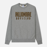 Мужская толстовка Billionaire Boys Club Straight Logo Reversible Crewneck Heather Grey фото- 0