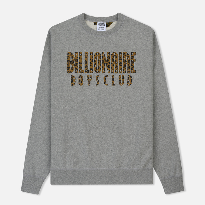 Мужская толстовка Billionaire Boys Club Straight Logo Reversible Crewneck Heather Grey