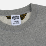 Мужская толстовка Billionaire Boys Club Straight Logo Reversible Crewneck Heather Grey фото- 1