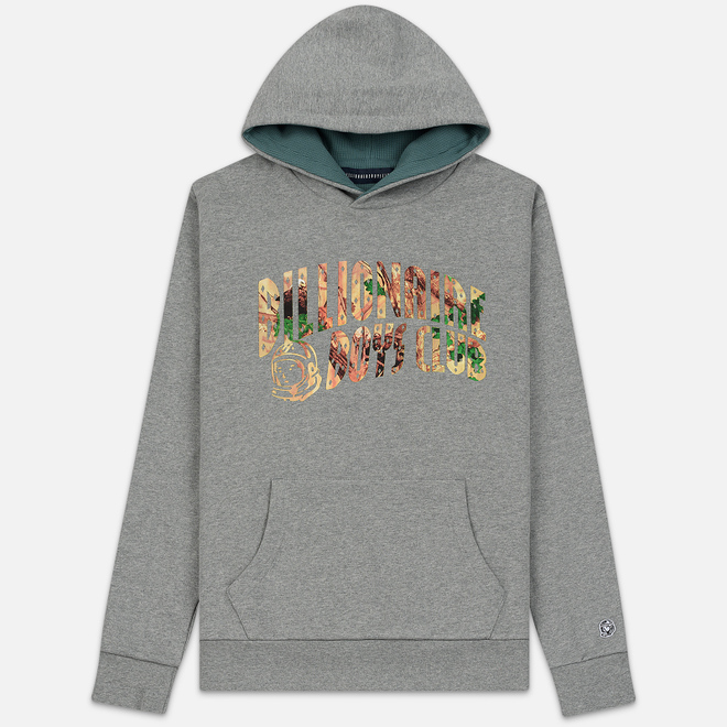 Мужская толстовка Billionaire Boys Club Tree Camo Arch Logo Popover Hoodie Heather Grey