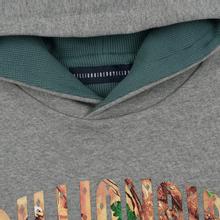 Мужская толстовка Billionaire Boys Club Tree Camo Arch Logo Popover Hoodie Heather Grey фото- 1