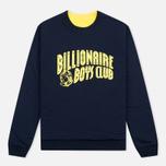 Billionaire Boys Club Vacation Reversible Crewneck Men`s Sweatshirt Navy/Yellow photo- 0