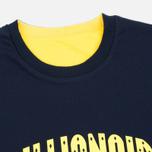 Billionaire Boys Club Vacation Reversible Crewneck Men`s Sweatshirt Navy/Yellow photo- 1