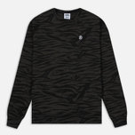 Мужская толстовка Billionaire Boys Club Zebra Camo All-Over Print Crew Neck Charcoal фото- 0