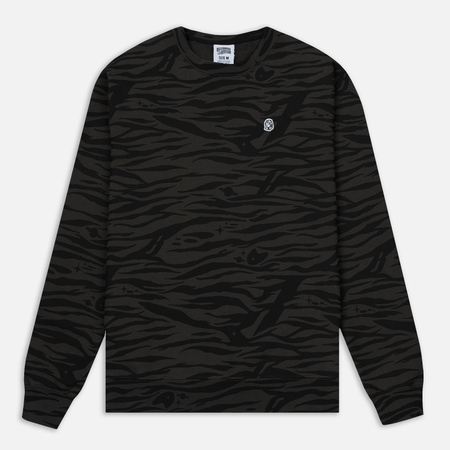 Мужская толстовка Billionaire Boys Club Zebra Camo All-Over Print Crew Neck Charcoal