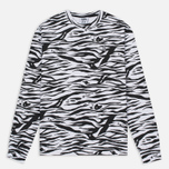 Мужская толстовка Billionaire Boys Club Zebra Camo All-Over Print Crew Neck White фото- 0
