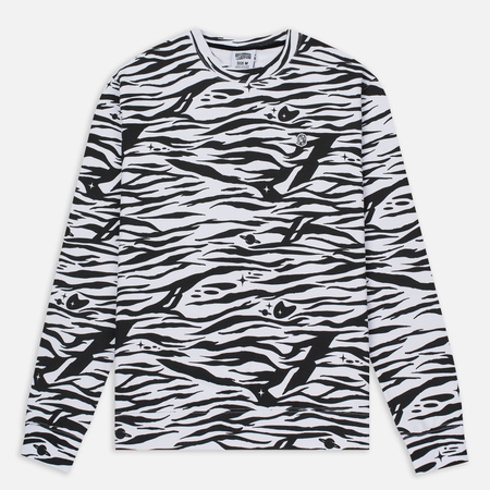 Мужская толстовка Billionaire Boys Club Zebra Camo All-Over Print Crew Neck White