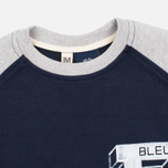 Bleu De Paname Raglan BDP Men's Longsleeve Blue photo- 1