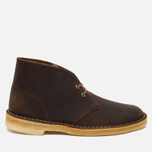 Мужские ботинки Clarks Originals Beeswax Leather Desert Boot Brown фото- 0