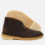 Мужские ботинки Clarks Originals Beeswax Leather Desert Boot Brown фото- 1