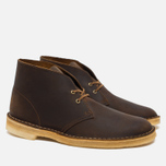 Мужские ботинки Clarks Originals Beeswax Leather Desert Boot Brown фото- 2