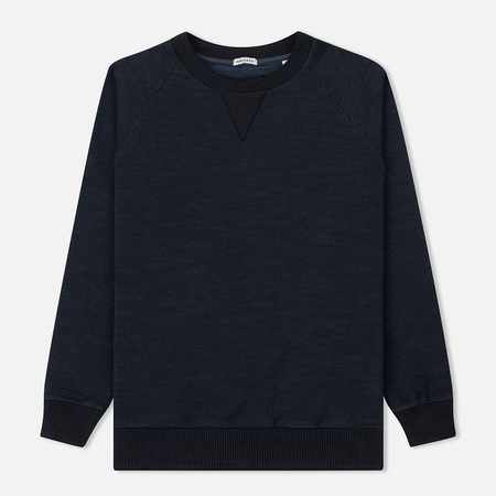 Мужская толстовка Blue Blue Japan J3256 Big Slub Crew Neck Dark Navy